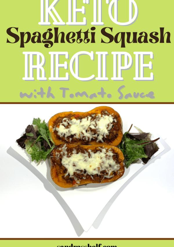 Keto Spaghetti Squash Recipe with Tomato Sauce