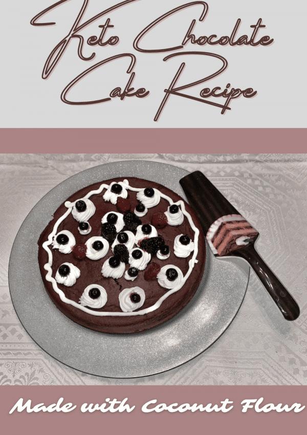 Keto Chocolate Cake Recipe Made with Coconut Flour